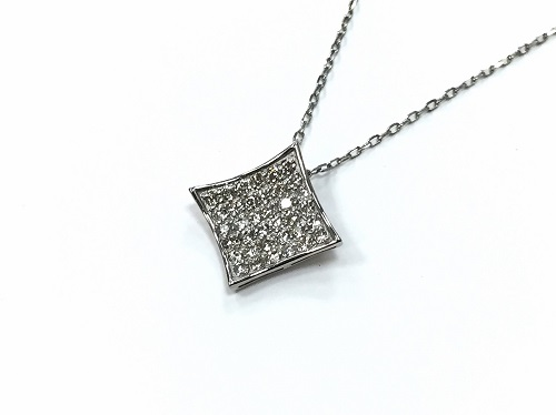 ダイヤモンドペンダント プラチナ メレダイヤモンド