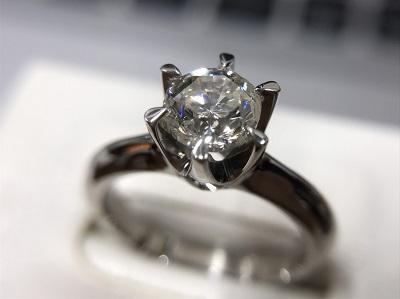 プラチナ ダイヤモンド リング 1粒 ソリテール 1.05ct 高価 買取 東京 マルカ