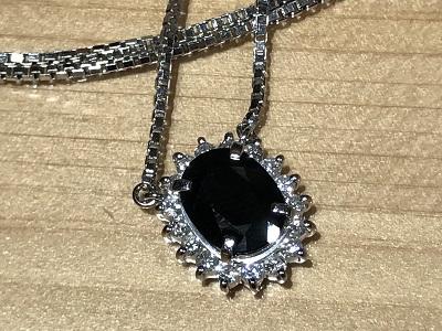 サファイア(SAPPHIRE) ペンダント ネックレス プラチナ ダイヤモンド