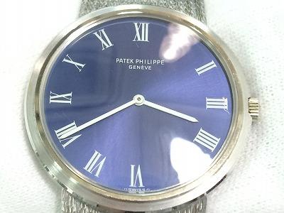パテックフィリップ(PATEK PHILIPPE) 時計 紳士用 18金 ホワイトゴールド 世界三大時計 マルカ 四条大宮店 高価買取