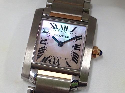 カルティエ Cartier タンクフランセーズ W51027Q4 SS×PG シェル文字盤