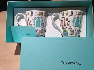 Tiffany(ティファニー) ペア マグカップ ニューヨーク柄 未使用 宅配 買取