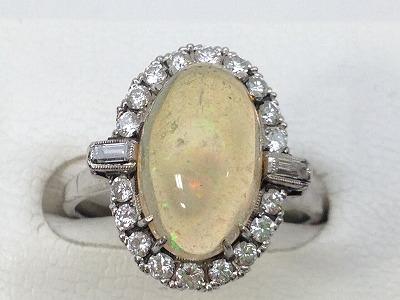 オパール リング プラチナ ダイアモンド 宝石 貴金属 ジュエリー マルカ 出張買取 高価買取