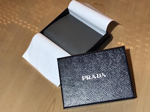 プラダ PRADA カードケース サフィアーノ グレー