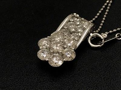ネックレス Pt900 プラチナ メレダイヤモンド 2.00ct 宝石 高価買取 七条店