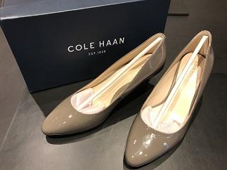 COLE HAAN コールハーン パンプス パテント グレー