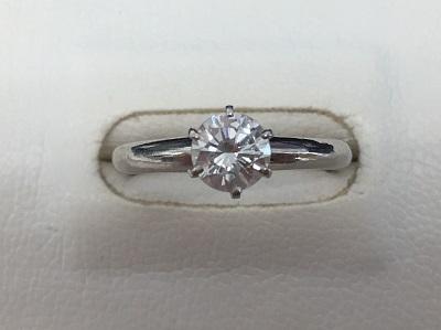 ダイヤモンドリング Pm900 0.58ct 2.8g 高価買取 マルカ