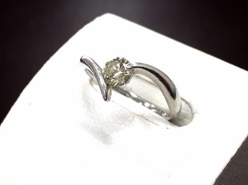 プラチナリング Pt900 ダイヤモンド 0.387カラット