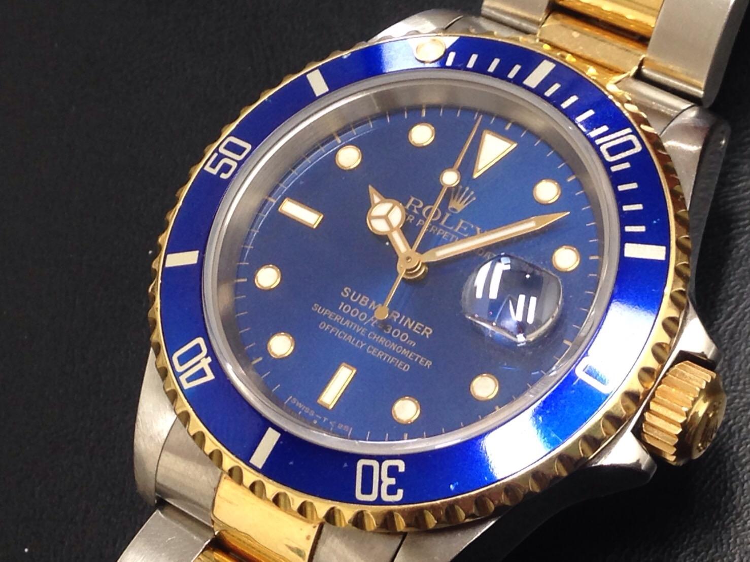 ロレックス サブマリーナ Ref.16613 旧型青サブ  Y品番 高価買取中
