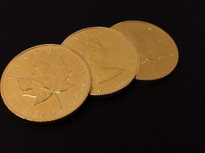 メイプルリーフ金貨 K24 46.5g 本日はK24¥4,660- インゴットK24¥4,770-