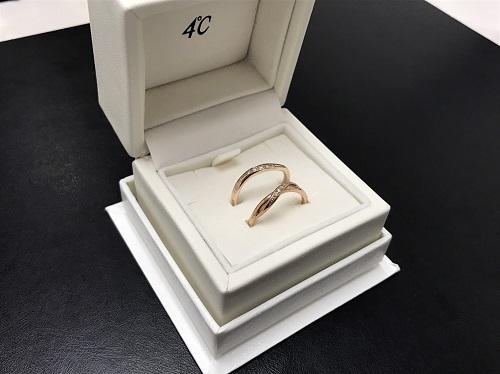 4℃(ヨンドシー) ダイヤリング K10  神戸三宮 買取