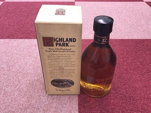 お酒 ハイランドパーク (HIGHLAND PARK) 12年 シルクプリント 750ml ウイスキー 神戸三宮 買取