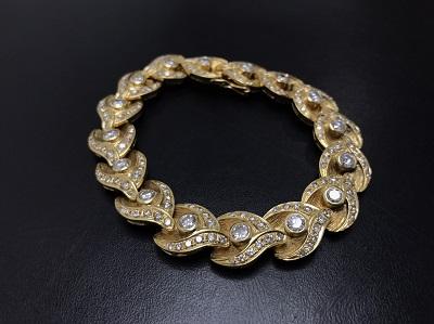 ダイヤモンド ブレスレット K18 金 宝石 高価買取 七条店