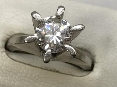 ダイヤモンド リング 1.37ct PT900 ダイヤモンド買取 三宮 元町 神戸