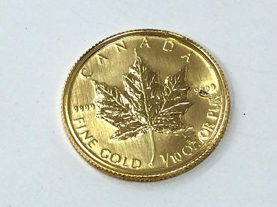 金 メイプルリーフコイン K24 純金 貴金属 買取 マルカ 手数料無料