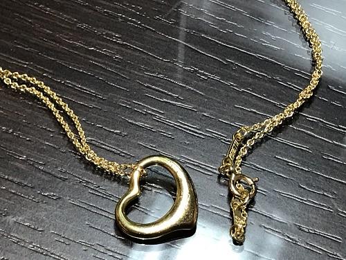 ティファニー(Tiffany) オープンハート ネックレス K18 ブランドジュエリー