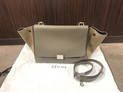 セリーヌ(CELINE) トラペーズ グレー 169543 セリーヌ買取 三宮 元町 神戸
