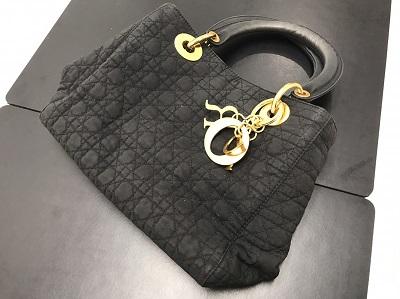 Christian Dior クリスチャンディオール レディディオール ナイロン 黒 ベタ付き 高価買取 七条店