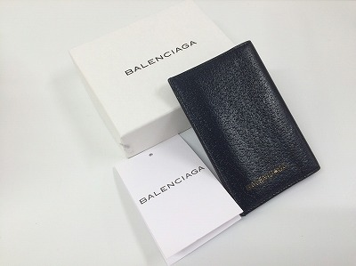 バレンシアガ(BALENCIAGA) 名刺入れ レザー ブラック 299501