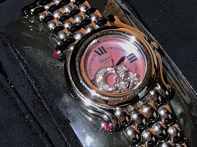 ショパール(Chopard)ハッピースポーツ ダイヤ ピンク文字盤 出張 買取 東京