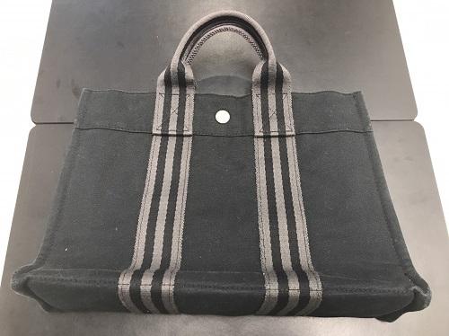 エルメス(HERMES) フールトゥPM キャンバス ブラック 美品 トートバッグ お買取り品 マルカ