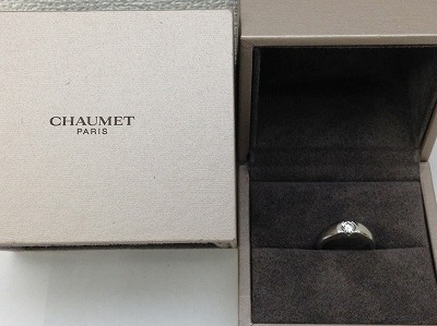 ショーメ(CHAUMET) ダイアモンド リング 750WG ラウンドブリリアント ジュエリー マルカ 四条大宮店 高価買取り