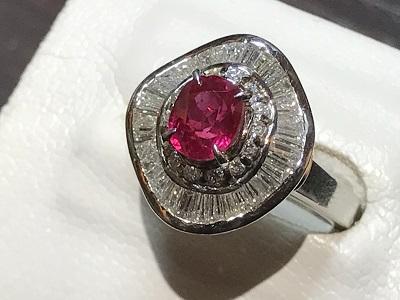 指輪 宝石 ルビー(RUBY) リング プラチナ ダイヤモンド(DIAMOND) ジュエリー