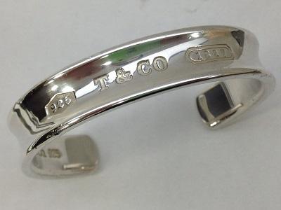 ティファニー(TIFANNY&Co) 1837ナローカフブレスレット バングル SV925 七条 買取