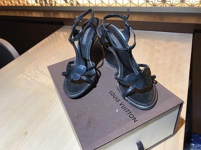 ルイヴィトン(Louis Vuitton)ヒールサンダル 中古高価 出張 買取 東京