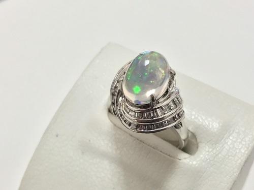 指輪 ウォーターオパール プラチナ PT900 3.33カラット