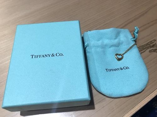 ティファニー TIFFANY&CO オープンハートネックレス 750 3.0g