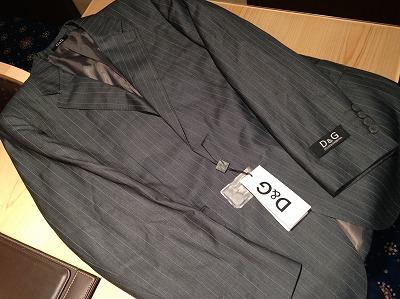 ドルチェアンドガッパーナ(D&G)ジャケット ストライプ グレー♯48 買取