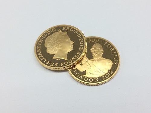 ロンドン五輪金貨 25ポンド ヴァルカン K22 8.5g 金 貴金属 北山 買取