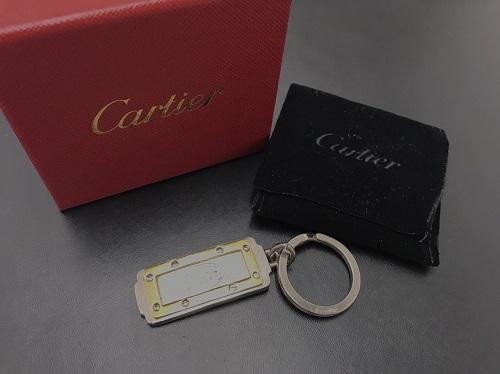 カルティエ(CARTIER)サントス キーホルダー ステンレス  ロゴマーク 北山店 お買取り品