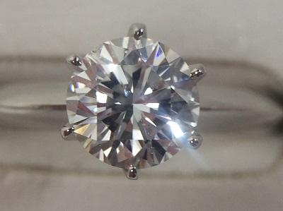 ダイヤモンドプラチナリング 1.06CT PT900 4.6g H-SI1-G  銀座渋谷有楽町