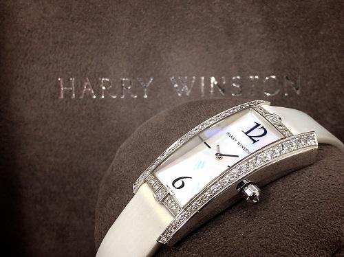 ハリーウィンストン アヴェニュートラフィック 340LQW 750WG ダイヤモンド サテンベルト