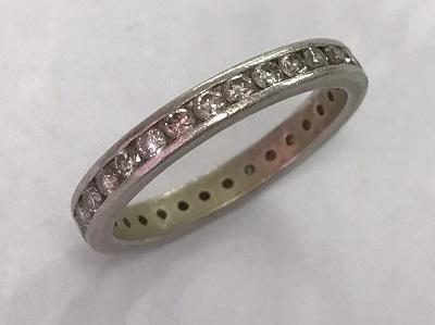 ダイヤモンド リング  フルエタニティ 0.77ct PT900 ダイヤモンド 買取