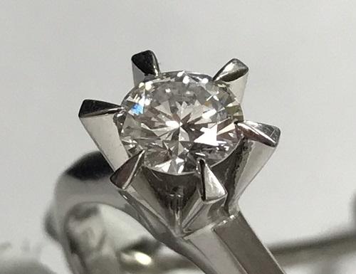 ダイヤモンド 0.653ct Pt立爪リング ダイヤモンド買取マルカ(MARUKA)