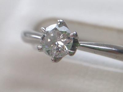 ダイヤモンドリング Pt900 0.33ct 4.2g プラチナ 宝石 貴金属 北山 買取