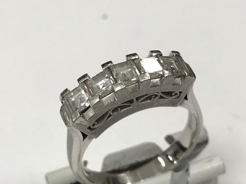 一文字ダイヤモンドリング 1.08ct Pt900 ダイヤモンド買取マルカ(MARUKA)