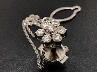メレダイヤモンド 1.01ct タイタック Pt850 プラチナ 宝石 高価買取 宅配買取