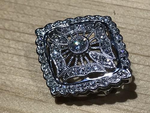 ダイヤモンド(DIAMOND) プラチナ ブローチ ペンダントトップ