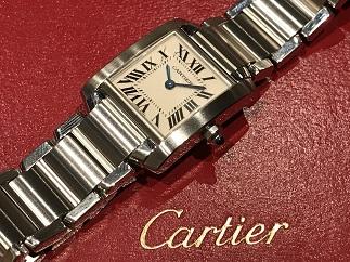 Cartier カルティエ タンクフランセーズSM 腕時計買取 ブランド品 質屋 福岡天神 博多