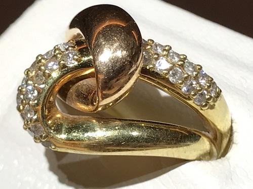 ダイヤモンド リング パヴェ 18金 K18 ゴールド 指輪 宝石 ジュエリー 北山店 高価買取 マルカ 京都