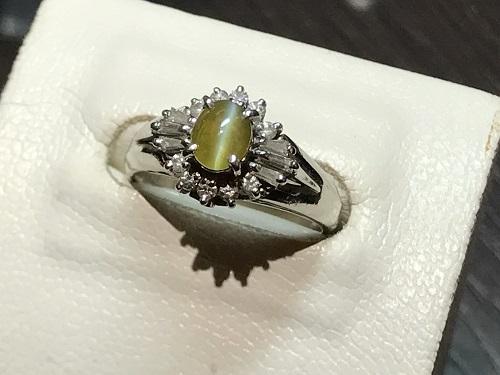 クリソベリルキャッツアイ 指輪 リング 宝石 ダイヤモンド(DIAMOND) 宝飾品