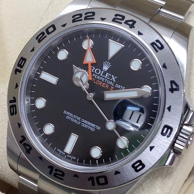 ロレックス(ROLEX)買取 エクスプローラーⅡ買取 216570買取 腕時計買取 ランダム品番 黒文字盤 上京区 京都北山店 左京区 マルカの買取 北区