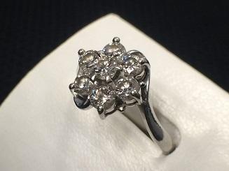 ダイヤモンドリング プラチナ 1.00カラット 宝石買取 質屋 福岡 天神 博多