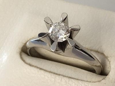 ダイヤモンドリング 0.314ct PT900 ダイヤモンド買取 三宮 元町 神戸