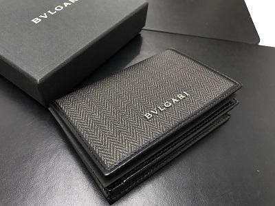 BVLGARI ブルガリ ウィークエンド カードケース PVC グレー 未使用 高価買取 七条店