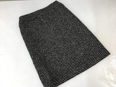 シャネル(CHANEL) ツイードスカート 黒白 アパレル 03C #36 アパレル 宅配買取